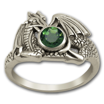Raphela Dragon Ring in Sterling Silver