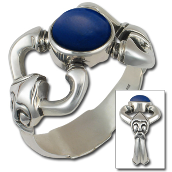 Thor's Hammer Viking Mens Ring in Sterling Silver