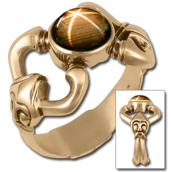 Thor's Hammer Viking Mens Ring in 14k Gold