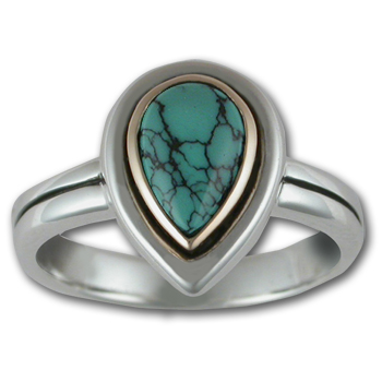 Two Tone Ring w/ Gemstone