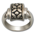 Floral Motif Ring in Sterling Silver