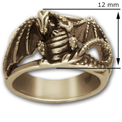 Dragon Warrior ring in 14k Gold