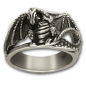 Dragon Warrior ring in Sterling Silver
