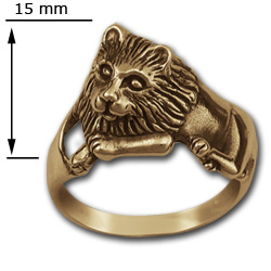 Lion Ring (Lg) in 14k Gold