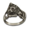 Lion Ring (Lg) in Sterling Silver