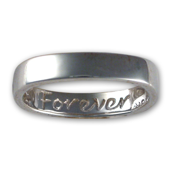 """Forever"" Ring in Sterling Silver"