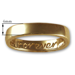 """Forever"" Ring in 14k Gold"