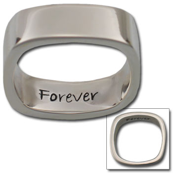 "Large ""Forever"" Ring in Sterling Silver"