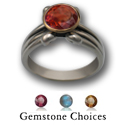 Gemstone Ring in Sterling & Gold