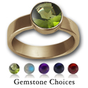 Simple Gemstone Ring in 14K Gold