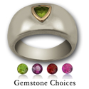 Gemstone Ring in Silver & Gold