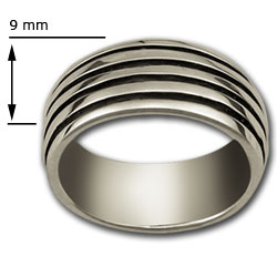 Railed Band Ring in Sterling Silver