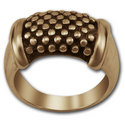 Beaded Ring in 14k Gold
