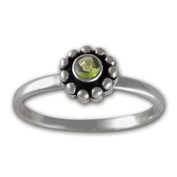 Gemstone Ring in Sterling Silver