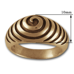 Spiral Ring in 14k Gold