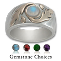 Gemstone ring in Silver and Gold