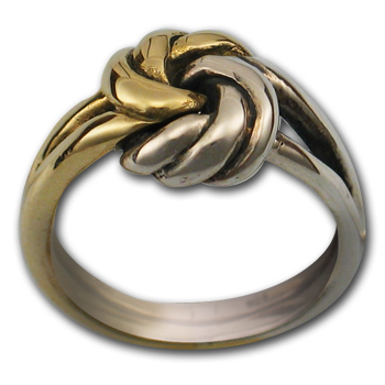 Knot Ring in White & Yellow Gold