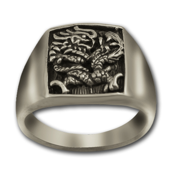 Chinese Dragon Ring in Sterling