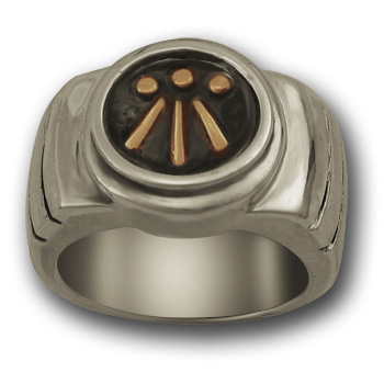 Awen Ring in Silver & Gold