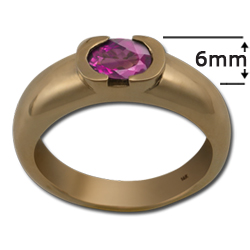 Pink Sapphire Ring in 14k Gold