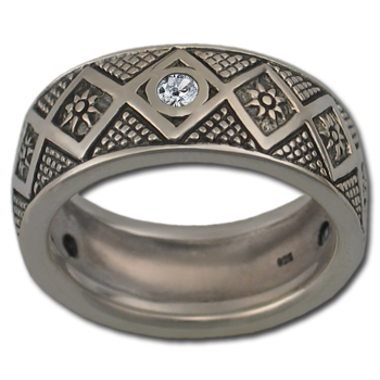 Bolivian Sky Ring in Sterling Silver