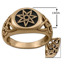 Celtic Septagram Ring in 14k gold