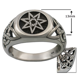 Celtic Septagram Ring in .925 Sterling Silver