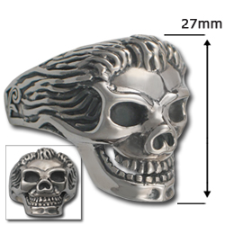 Skull Ring in .925 Sterling Silver