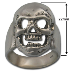 Skull Ring in Sterling Silver