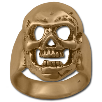 Skull Ring in 14k Gold