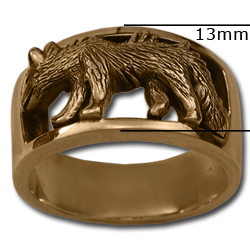 Wolf Ring in 14k Gold