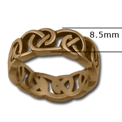 Celtic Knot Ring in 14k Gold