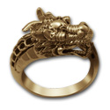 Chinese Dragon Ring in 14k Gold