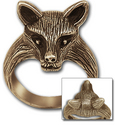 Fox Ring in 14K Gold