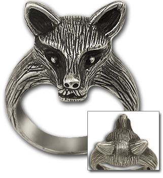 Fox Ring in Sterling Silver