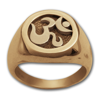 Om Ring in 14k Gold