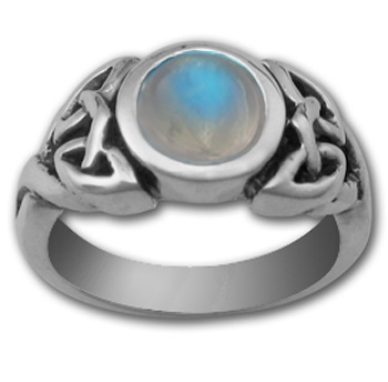 Celtic Gemstone Ring in Sterling Silver
