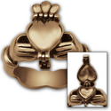 Claddagh Poison Ring in 14K Gold