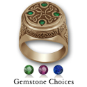 Celtic King's Signet Ring in 14k Gold