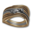 Three-Part Gaudi Ring in Silver and Gold