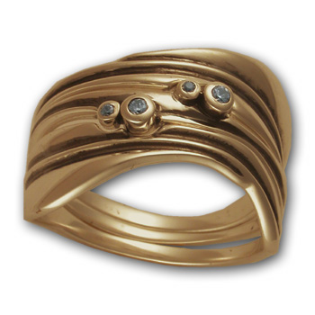 Three-Part Gaudi Ring in 14K Gold
