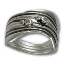 Three-Part Gaudi Ring in Sterling Silver
