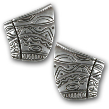 Gaudi Earrings in Sterling Silver