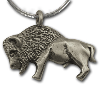 Buffalo Pendant in Sterling Silver