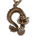 Eastern Dragon Pendant in 14K Gold