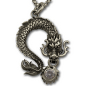 Eastern Dragon Pendant in Sterling Silver
