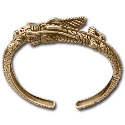 Large Dragon Bracelet in 14k Gold