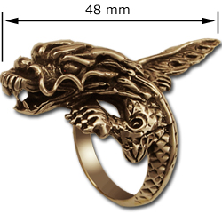 Eastern Dragon Ring in 14K Gold
