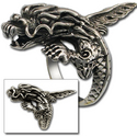 Eastern Dragon Ring in Sterling Silver
