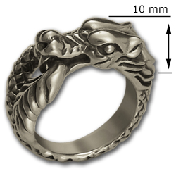 Ouroboros Ring in Sterling Silver